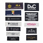 Luxury fashion Damask Clothing Neck High Quality End Fold Brand Logo Custom Garment Size Woven Label