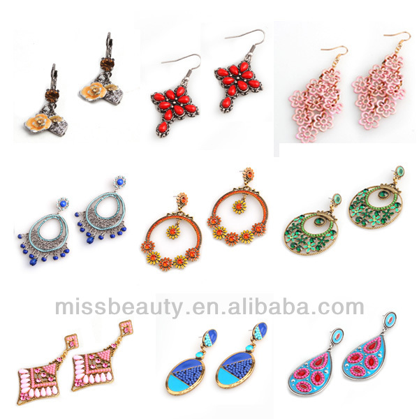 Hot sale alloy mini beads rhinestone earring vintage jewelry