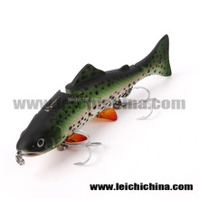 2 section multi jointed hard fishing lure swim bait