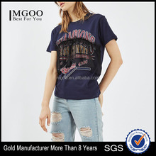 MGOO Fashion Girls Screen Printing Hip Hop T Shirts Organic Cotton T-shirt With Mesh Motif Ruffle