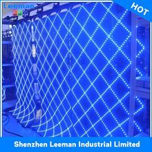 rental led display smd curtain p12 transparent glass led display
