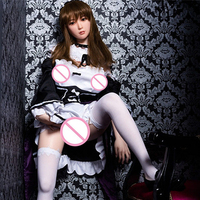 Newest platinum silicone DS 145cm skinny silicon doll realistic Japanese sex doll for men Adult toys