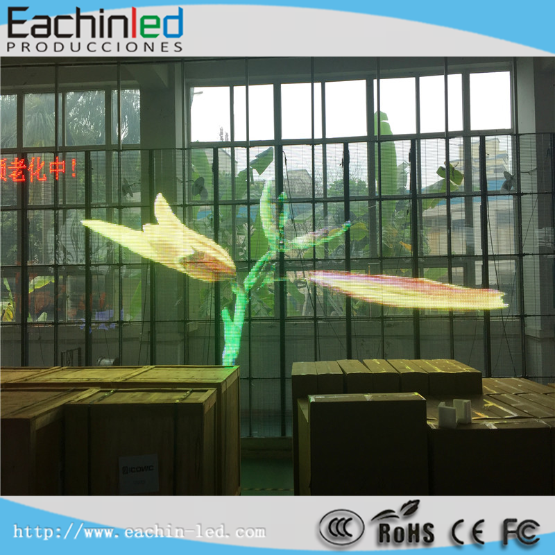 Hot sale!! Transparent led screen, LED display for P10 P16 P20 LED glass wall