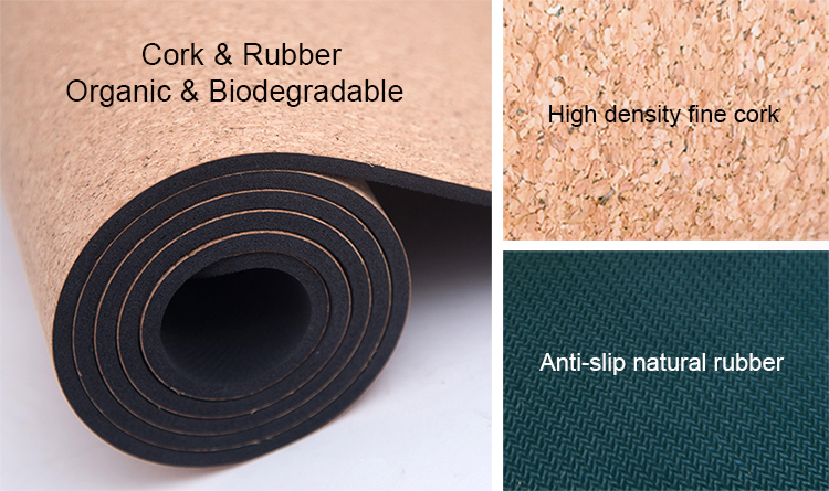 Alibaba Best Sellers Natural Rubber Yoga Mat Cork