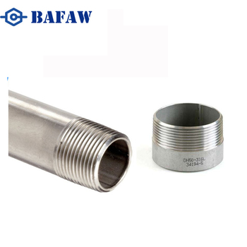 Male NPT Pipe seamless Nipple Hose Tube Connection