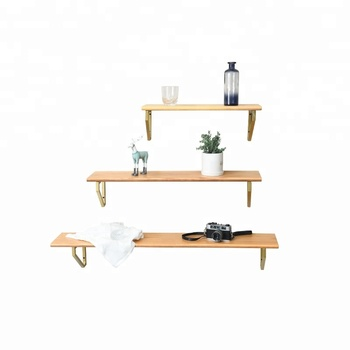 Amazoning Best Selling High Quality Wooden Display Wood Wall Shelf for Book