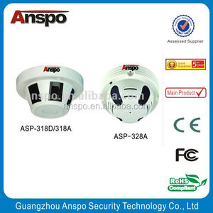 "Guangzhou Anspo Vandalproof Mini Hidden Camera Smoke Detector Camera 1/3"" SONY 480TVL HD Small CCTV Camera"