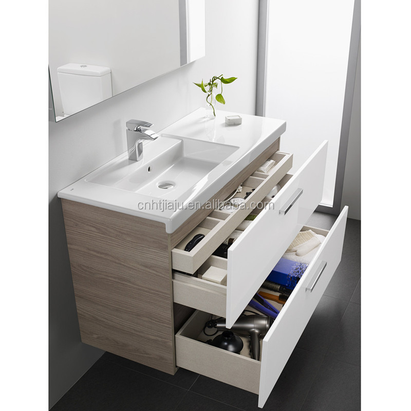 high quality modern wall mounted bathroom vanity with side