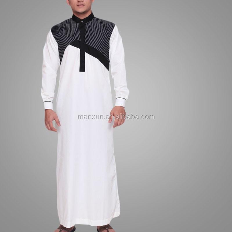 Katun Berkualitas Tinggi Islam Pria Robe Pria Arab Saudi Desain