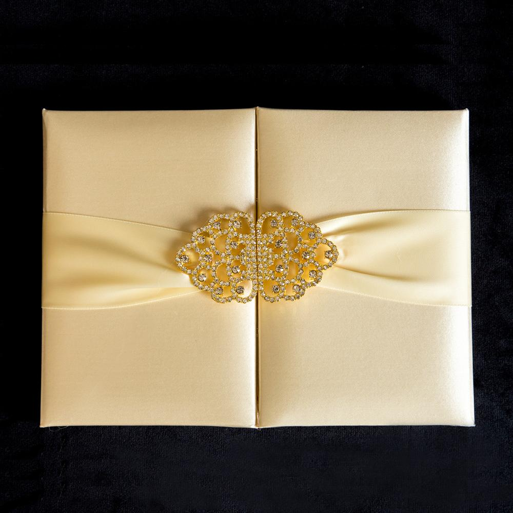 Hard Cover 3 Folding Card <strong>Wedding</strong> <strong>Invitation</strong> Card Lace Decoration <strong>Wedding</strong> <strong>Invitations</strong> <strong>Luxury</strong> with Ribbon Buckle