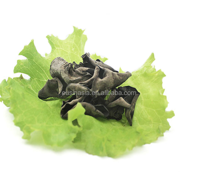 full black fugus mushroom, dried black fungus