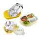 Double Wall 304 Stainless steel inner PP outer bento lunch box with 3 partitions 4 partitions 5 partitions with lock lid