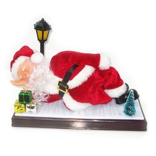 new design sleeping santa claus plush pet toy novelty outdoor xmas inflatable father christmas