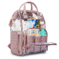 Baby Diaper Bag Backpack Clear Backpack with Insulated Pouch/Changing Pad