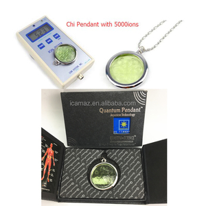 Light green Chi Pendant 2 with negative ions 5000cc, OEM logo
