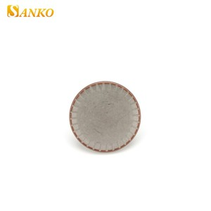 High quality eco friendly embossed logo metal alloy jeans button