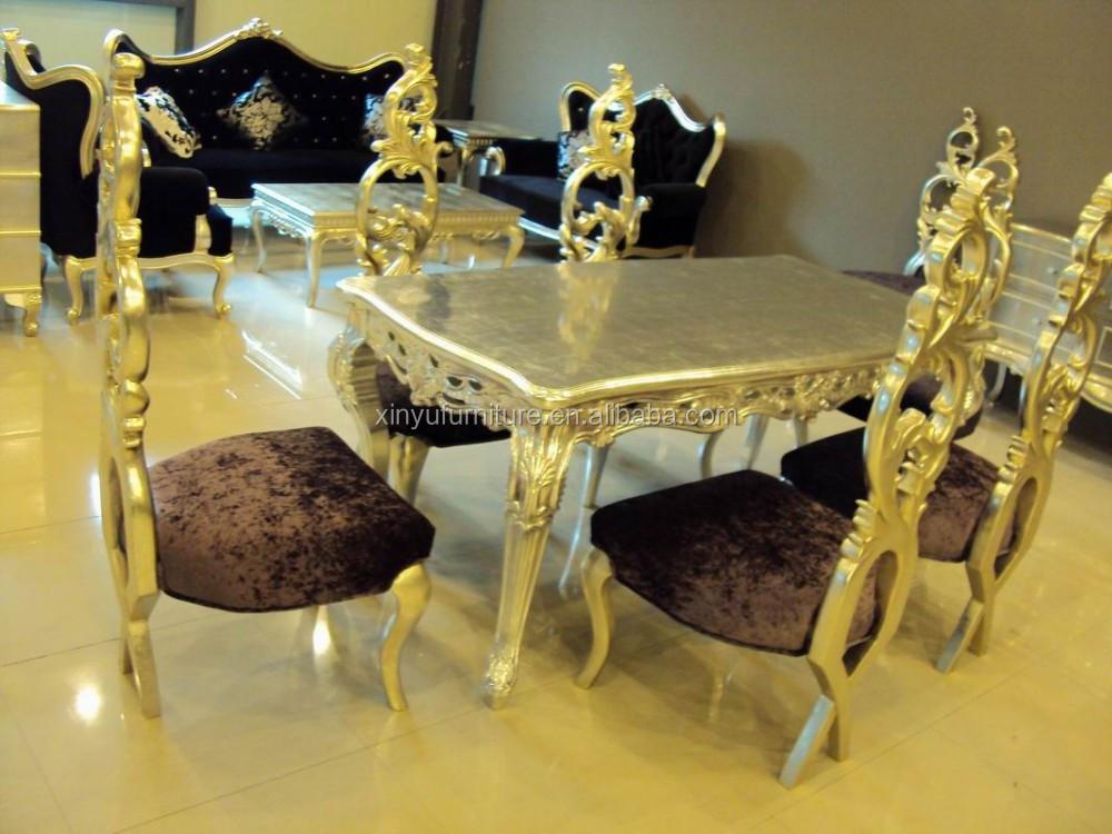 Mesa comedor y sillas de madera clásica xd1027 sets para sala ...