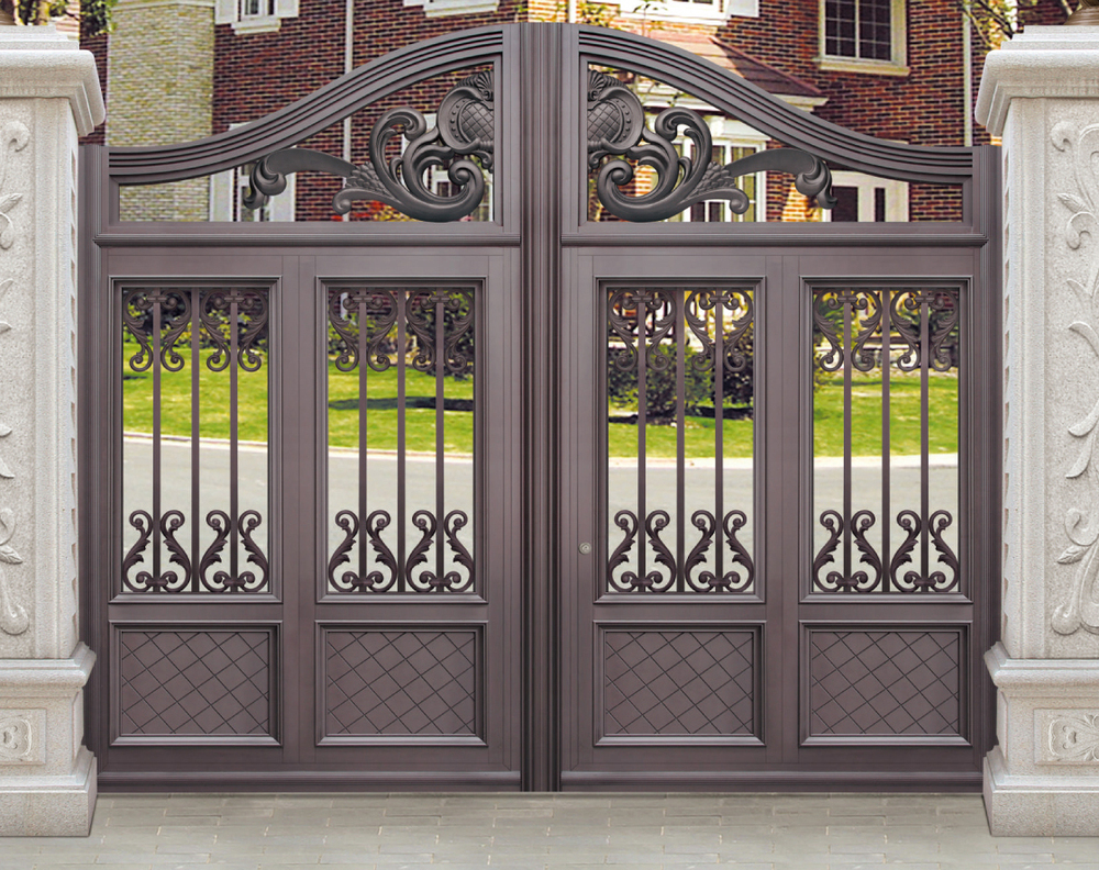 House gate designs aluminum door buy aluminum door main for Door gate design