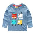 2016 New Next Spring Fall Boys Full Sleeve Kids Tees Cotton Comfortable Cartoon Cars Smart Children