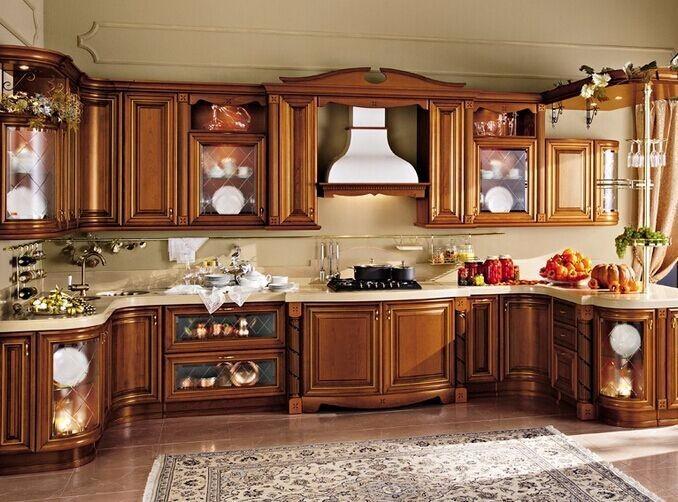 Hitam Kabinet Kayu Solid Kitchen Set Merah Anggur Warna Kayu Lapis
