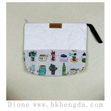 Fashional handmade washable handmade paper cosmetic bag