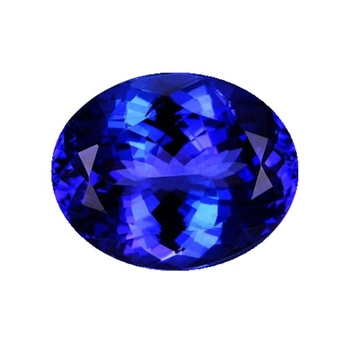 Brilliant high quality oval shape 4*6mm blue Synthesis tanzanite