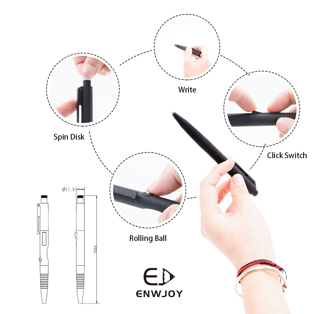 Winnho Ce Rosh Ball Pen Plastic Ballpoint Stylus Buy Diagram