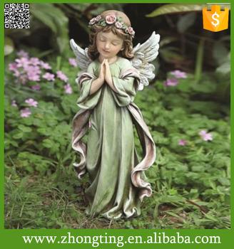 Elegant Factory ODM Angel Figure Ceramic Little Girl Garden Statues
