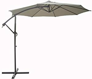 LBINTL Offset Air Vent Steel Umbrella Pole, 10-Feet, Beige (Discontinued by Manufacturer)