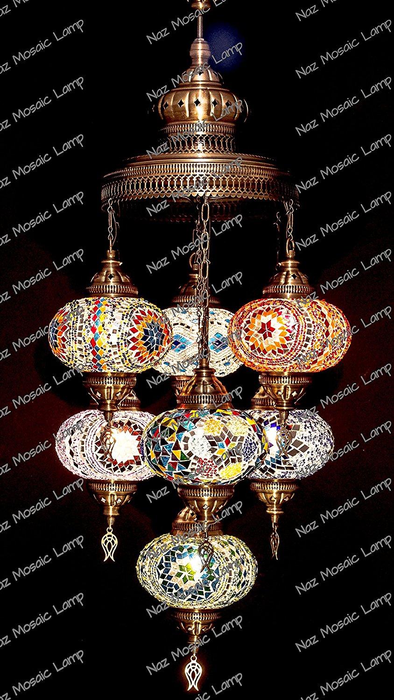 Get Quotations · Mosaic Chandelier, Filigree Copper Mosaic,Mosaic Lamp,Turkish  Lamp,Moroccan Lantern