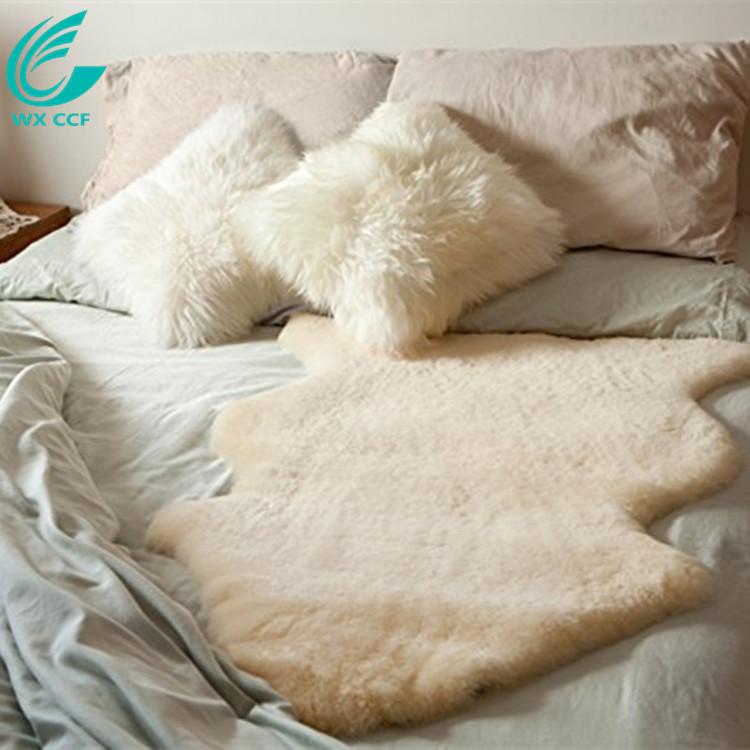 Natural Sheepskin Wool Comfort Mattress Bed Pad Bed Mat rug
