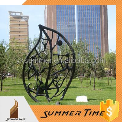 de gama alta moderna grande hoja jardn de esculturas