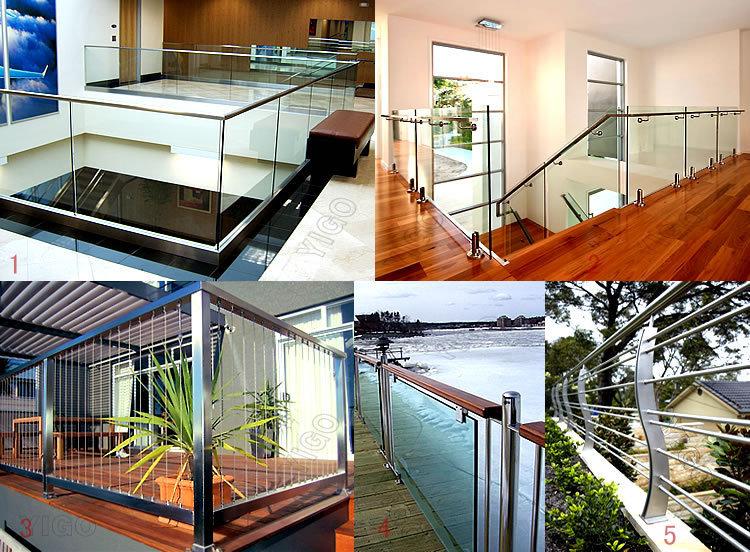 frameless glass terrace railing