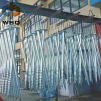 OEM factory supplier galvanized ground earth screw anchor for solar system, fence