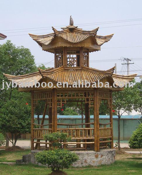 Jardin Bambou Gazebo Bambou Pavillon Bambou Maison