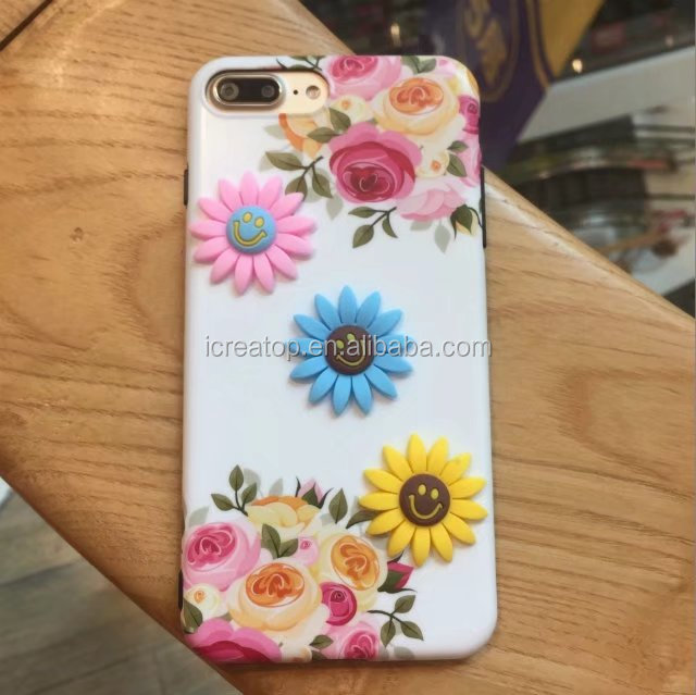 Small daisy smile face sunflower phone case for iPhone 6/6plus soft shell spot tpu mobile case covers for iPhone case