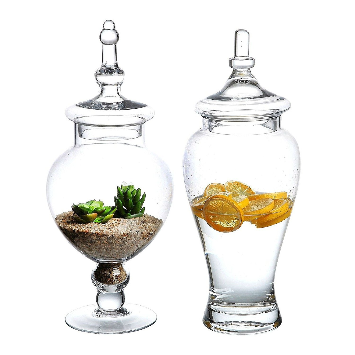 13742af80cad Buy Large Clear Glass Apothecary Wedding Set 2 Decorative Jars Candy ...
