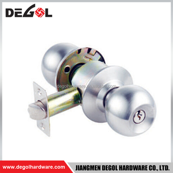 Durable Satin Steel Stainless Steel Manual Cylindrical Door Knob Lock