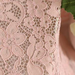 145 cm width Nylon Elegant Appearance Stretch Wholesale Lace Fabric LC058