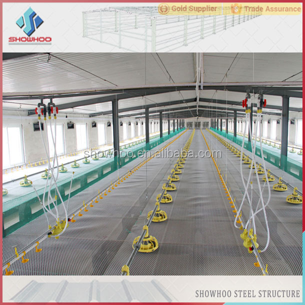 Prefabricated Steel Structure Poultry House Design Prefab
