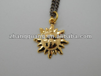 Wholesale charm pendants jewelry necklace gold plated sun design wholesale charm pendants jewelry necklace gold plated sun design pendant aloadofball Gallery