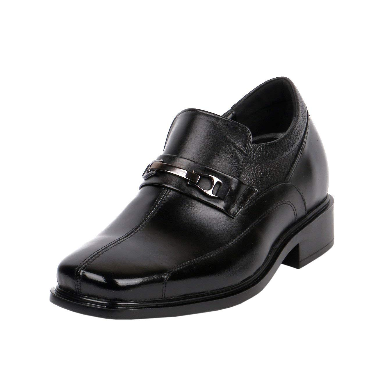 acf83695121 Get Quotations · JOTA Shoes Men Shoes Increase Height Ultra Light Comfy Wide  Feet Loafer Square
