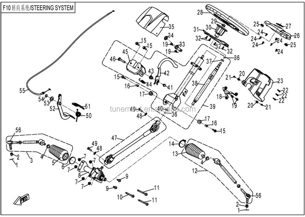 CF moto 800CC partes del sistema de direcci  nATV Partes