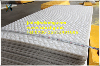 Black surface tread pattern hdpe plastic road mat plastic road plates and plastic tear drop plate : plastic road plates - pezcame.com