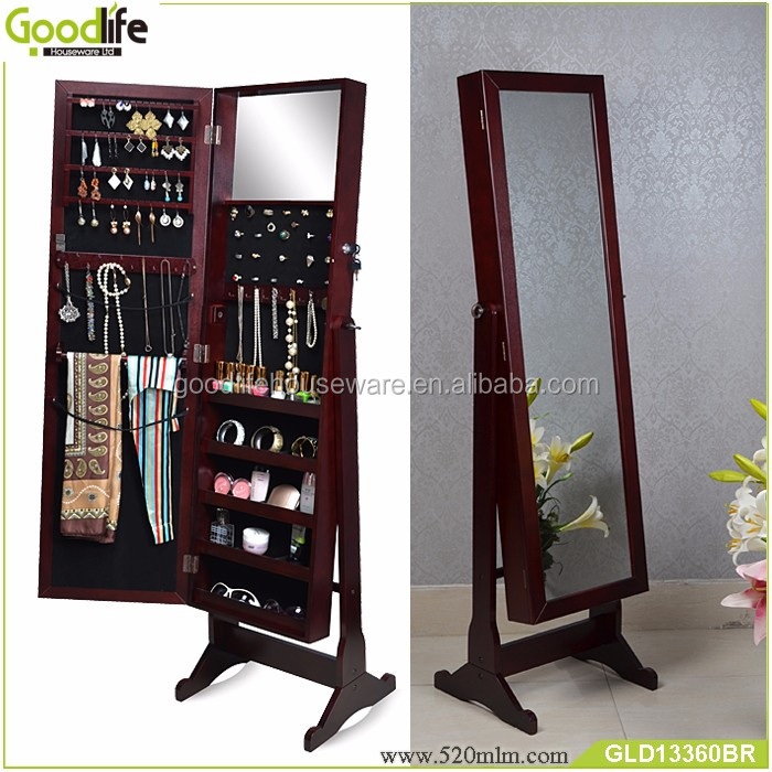 furniture free standing mirror jewelry armoire