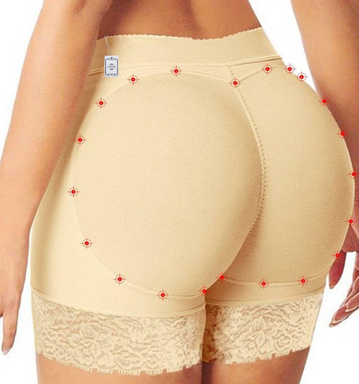 25ddc65841c Get Quotations · Women Lace Padded Seamless Butt Hip Enhancer Shaper  Panties Underwear