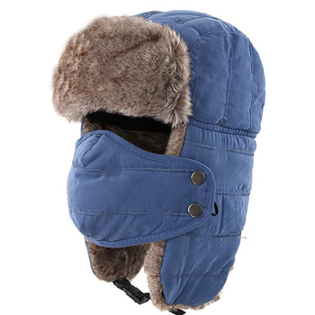 d4f667f6f46de Mens Winter Outdoors Faux Fur Waterproof Trooper Hat Custom Winter Earflap  Hat
