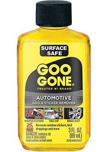 Goo Gone Automotive - Cleans Auto Interiors, Auto Bodies and Rims, Removes Bugs, Stickers, Paint and More - 3 Fl. Oz.