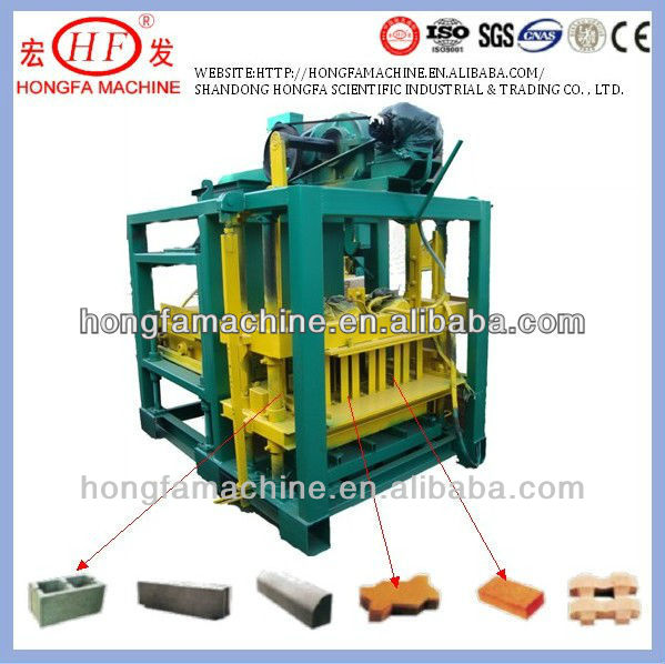 QTJ4-25B Hot sale in Africa automatic brick making machine production line / hollow brick machine for 9inches / 6inches blocks