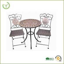 3 unid mosaico reposteria silla bistro set for outdoor muebles de jardin